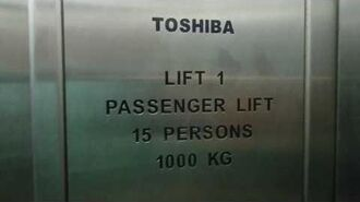 Singapore, Khatib MRT Station, Toshiba elevator - going down