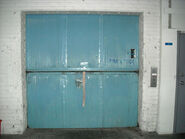 Old freight elevator door