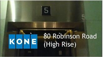 KONE Destination Polaris high-rise lifts at 80 Robinson Road