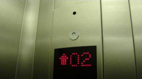 Schindler Touch Sensitive Traction Elevator at Kukulcan Plaza Mall, Cancun, Mexico