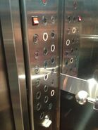 Lift buttons Graha Pena Surabaya