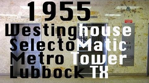 Awesome 1955 Westinghouse Selectomatic elevator @ Metro Tower Lubbock TX