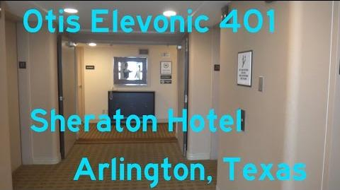 NICE Otis Elevonic 401 Traction Elevators @ the Sheraton Hotel in Arlington, TX