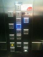 ThyssenKrupp STEP blue buttons