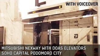 Soho Capital Podomoro City Elevators (Lifts) - Mitsubishi NexWay with DOAS-S Traction with Voiceover