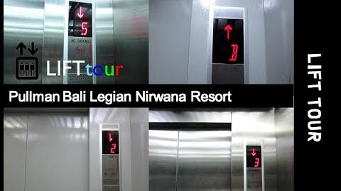 Tour of the Lifts at Pullman Bali Legian Nirwana Resort, Bali