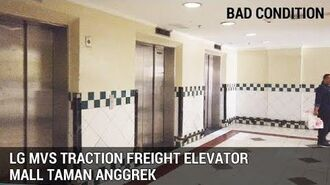 LG MVS Traction Freight Elevators (Lifts) Mall Taman Anggrek Tomang Jakarta Indonesia