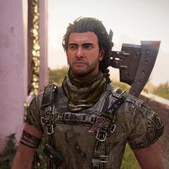 Connor: Ein Outlaw der mit einem Schackal unterwegs ist.