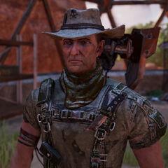 Rider: Ein Outlaw und Jäger der mit Scrappy gerne handel treibt.