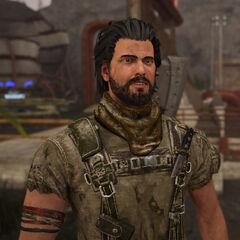 Raudur: Ein ehemaliger brutaler Bandit. Er ist jedoch jetzt ein Vagabund und lebt mit anderen Vagabunden in <a href=