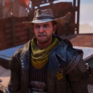 Bullet: Schiebt seinen Wachdienst am Haupteingang vom Fort gemeinsam mit Lucy.