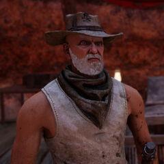 Scrappy: Ein älterer Outlaw der handel mit Rider treibt. Er überlebt vom Müll der im <a href=