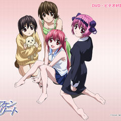 The main girls of Elfen Lied (anime).