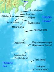 Map of Izu Islands (source wikimedia commons)