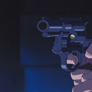 New Nambu Model 60 revolver seen in the anime, against the escaping Lucy