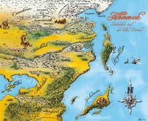 Karte Albenmark Drachenelfen