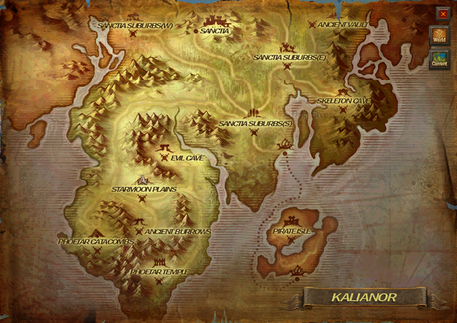 Holy kingdom map