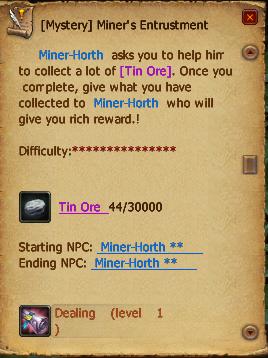 Miners entrustment