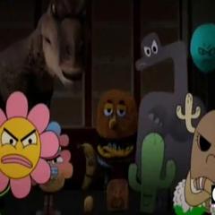 Todos viendo enojados a Gumball.