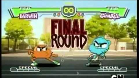 El increible mundo de gumball pelea darwin vs gumball-1