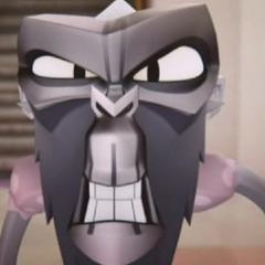 El rostro de La Señorita de Simian es un tono mucho más oscuro de color gris que de costumbre en esta escena de