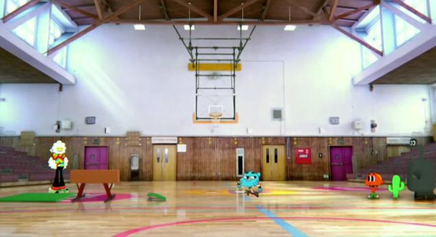 El gimnasio de la escuela el incre ble mundo de gumball for Gimnacio o gimnasio