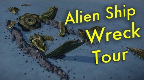 Alien Ship Wreck Location & Tour