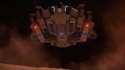 Elite Dangerous Type 10 landing on a planet (daytime)