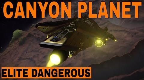 Elite Dangerous - Amazing Canyon Planet - Just Cruisin'