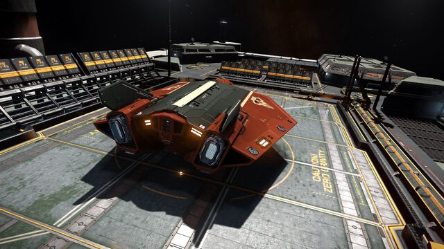 File:E-D - Asp Explorer - Red Pharao Top Aft View on Outpost.jpg