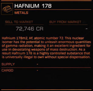 Hafnium-178-Commodities