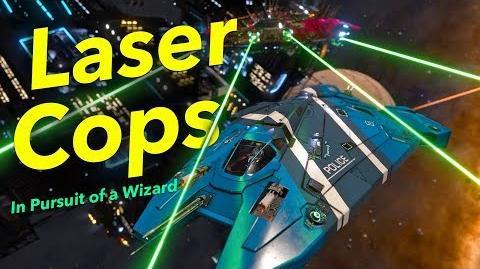 """Laser Cops """"In Pursuit of a Wizard"""" Elite Dangerous"""
