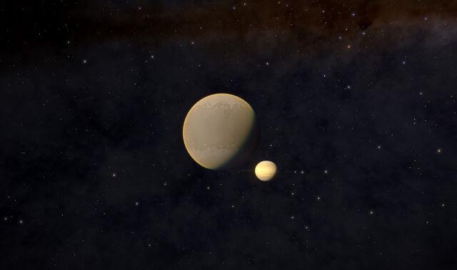 File:Titan-and-Saturn.jpg