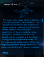Taipan ingame FaulconDeLacy description