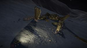 Thargoid Interceptor Alien Crash Site 1