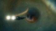 Black inhaling thruster exhaust