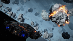 Type-9-ship-asteroid-mining-explosion