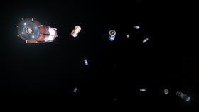 Емкости с грузом в космосе