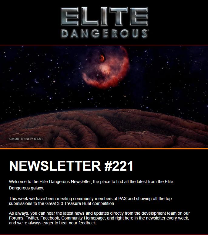 elite dangerous newsletter elite dangerous wiki fandom powered