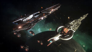 Ed-capital ship battle