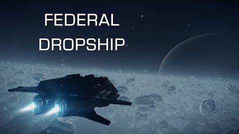 """Introducing Federal Dropship in """"Need for Speed"""" style - Elite Dangerous Short cinematic"""