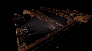 Capital ship dock