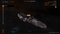 Fleet Carrier management UI