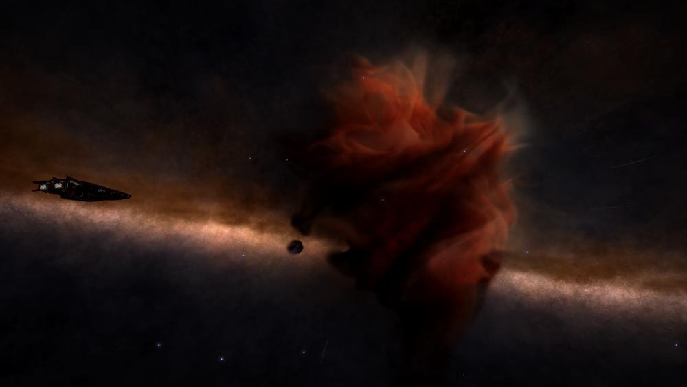 Cat's Paw Nebula, zdroj: https://elite-dangerous.fandom.com/wiki/Cat%27s_Paw_Nebula_NGC_6334