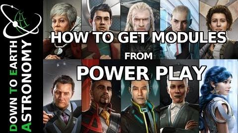 How to get special modules from Power Play in Elite dangerous