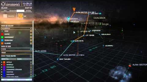 Elite - Dangerous Basic tutorial Part 9 Galaxy map