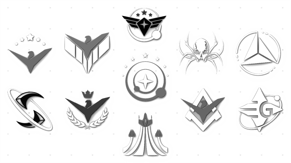 The powerplay decal pack is available for free on the frontier store it contains 11 decals representing each of the 11 powers