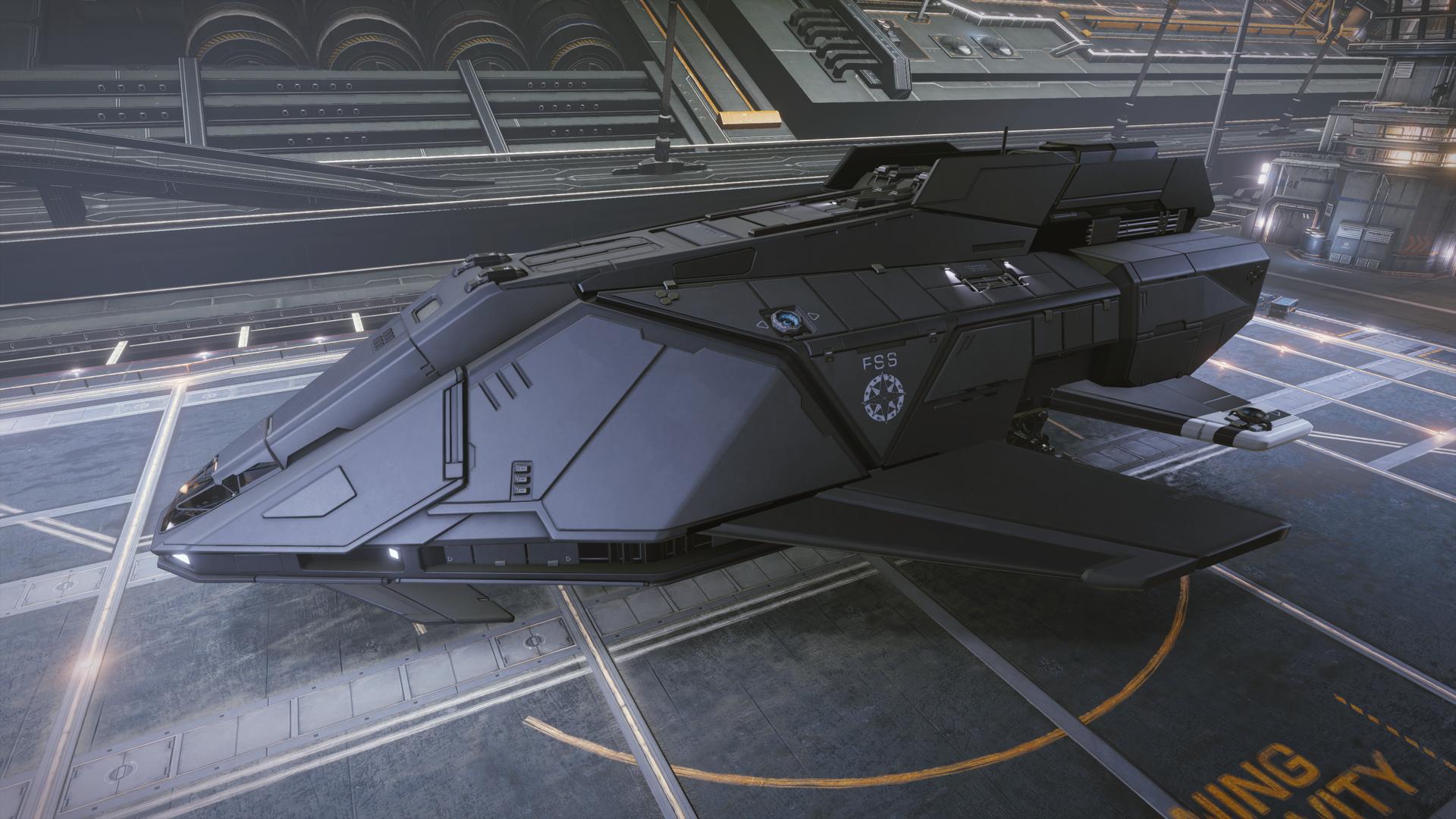 elite dangerous how to fly a gunship