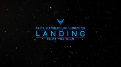 Landing - Elite Dangerous Horizons Pilot Training