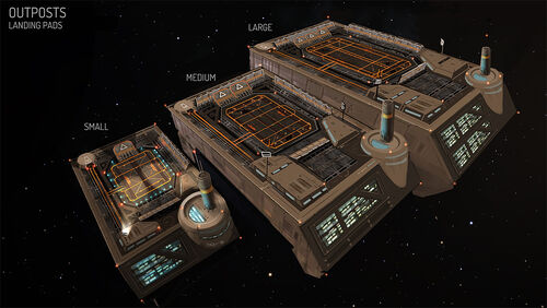 Outpost landing pad